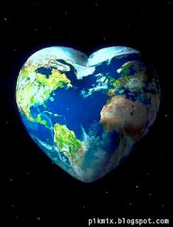 Imagen de la tierra en forma de corazón