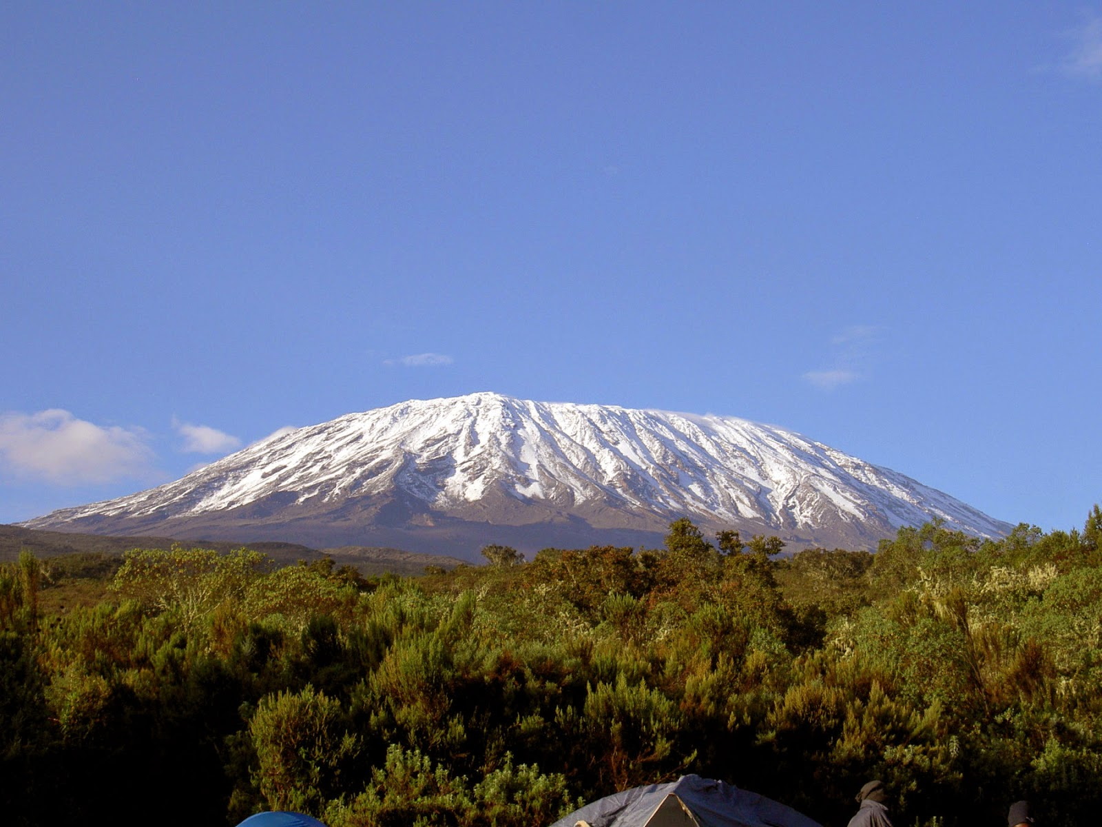 Mount Kilimanjaro from Vanishing ice all natural by Jim Steele