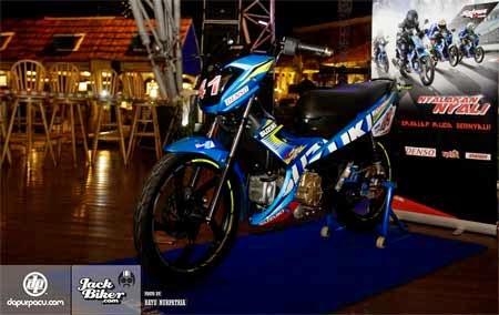 gambar Satria F115 Young Star Corak MotoGP