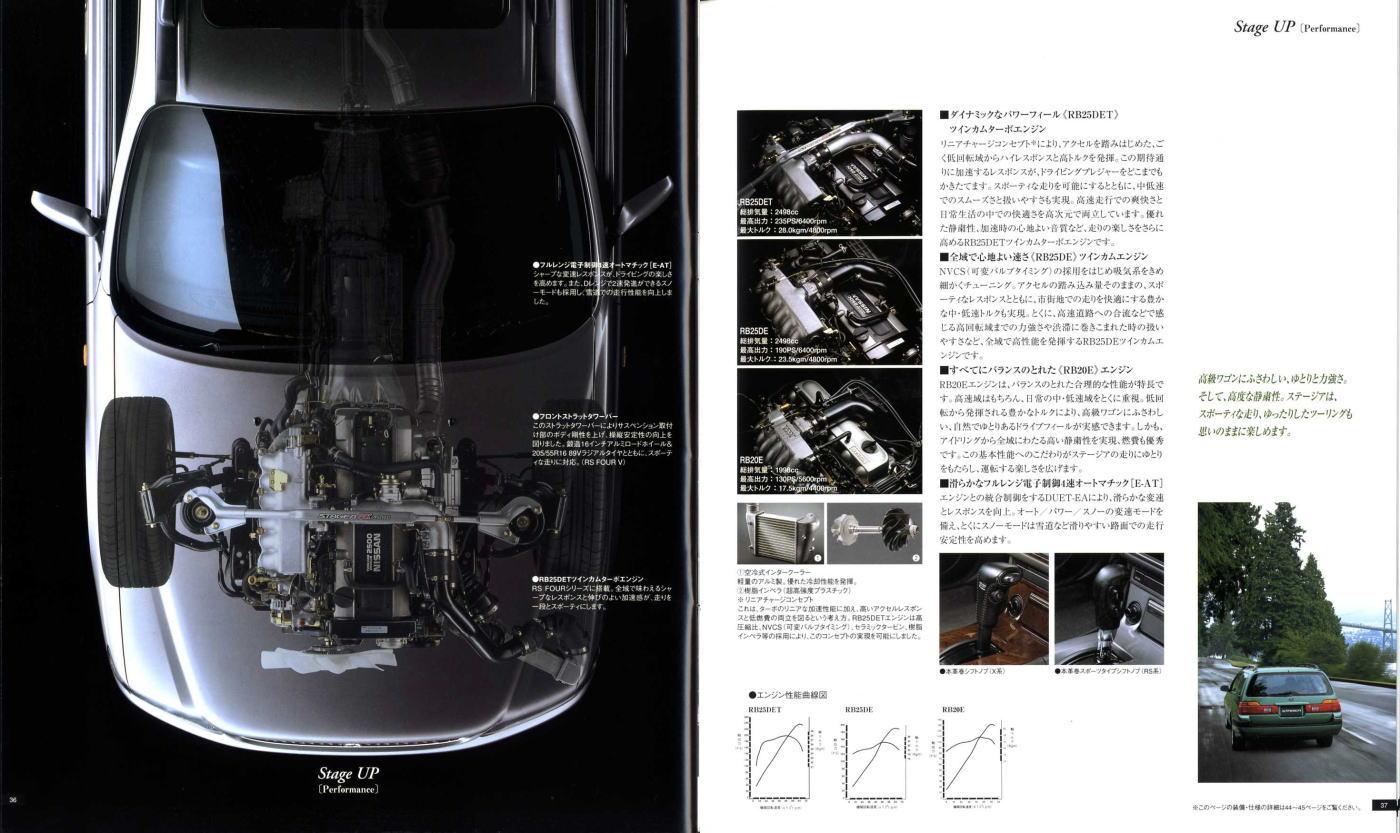Nissan Stagea, ciekawe kombi, mało znane samochody, RWD, AWD, RB25DET, RB26DETT, Autech, broszura