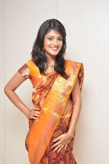 Krupali model in Beautiful Silk Saree at CMR Aashadam collection launch event