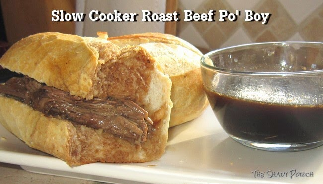 Roast Beef Po' Boy Au jus...a delicious, drippy sandwich!