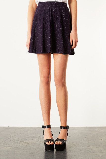 Purple Speckle Skater Skirt