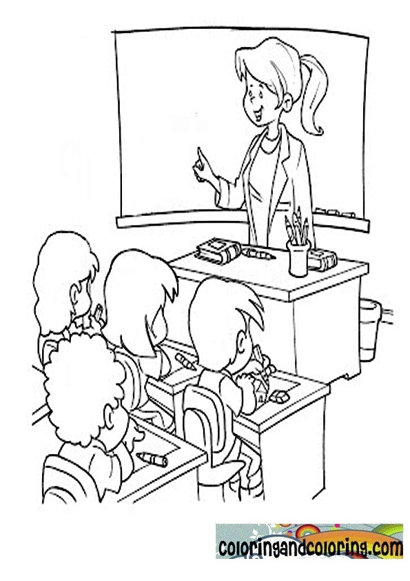 coloring pages of a teacher - photo#36