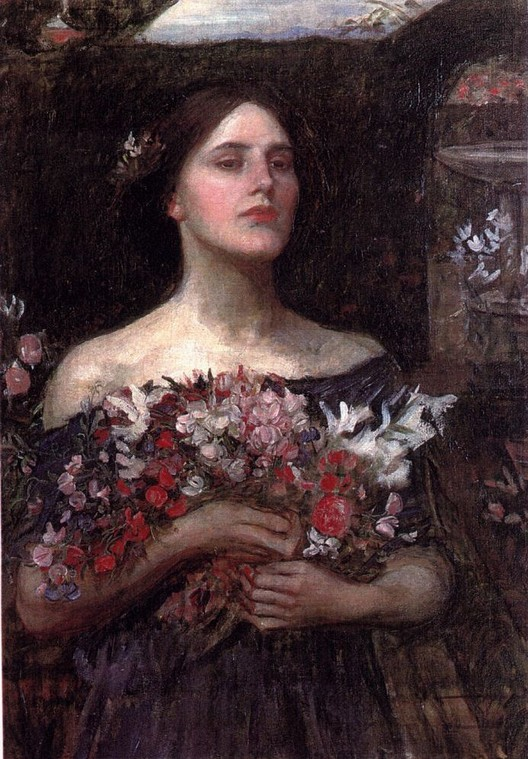 Waterhouse,painting,flowers