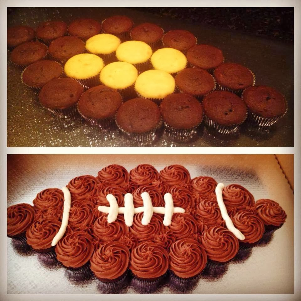 How To Make A Football Cake Out Of Cupcakes