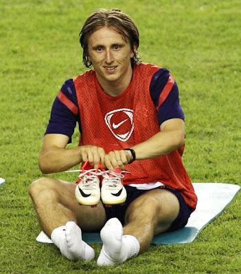 Luka Modric training with Croatia