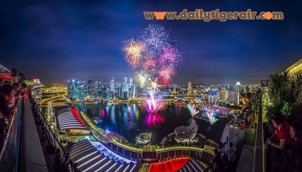 Dat ve di Singapore tham quan Marina Bay Singapore Countdown 2016