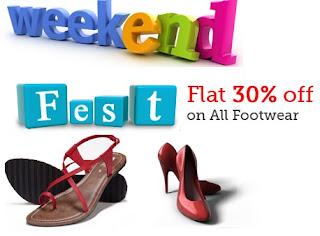 HomeShop18 Weekend Fest: Enjoy Flat 30% OFF on Men's &  Women's Footwear (Valid till 23rd June'13)