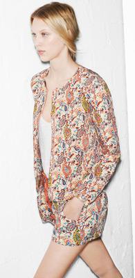 Zara trf verano 2013 chaqueta y short estampado paisley