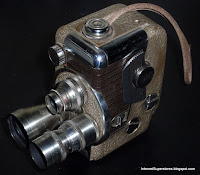 ANTIQUE REVERE 8 B-63 MOVIE CAMERA WITH 3 LENSES
