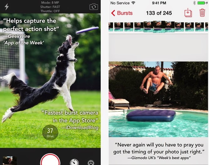 APP GRATIS PER SCATTARE FOTO IN SEQUENZA SU IPHONE IPAD ED IPOD TOUCH