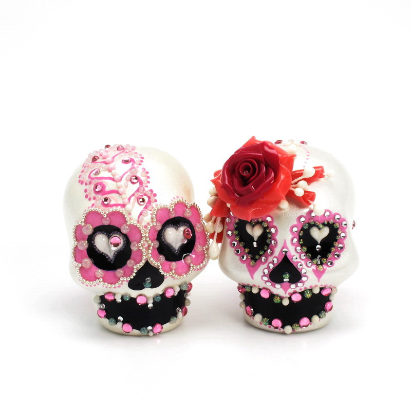 Candy Skull Wedding Cake