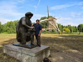 Amsterdam Netherlands Riekermolen Windmill Rembrandt's Mill Rembrandt Monument