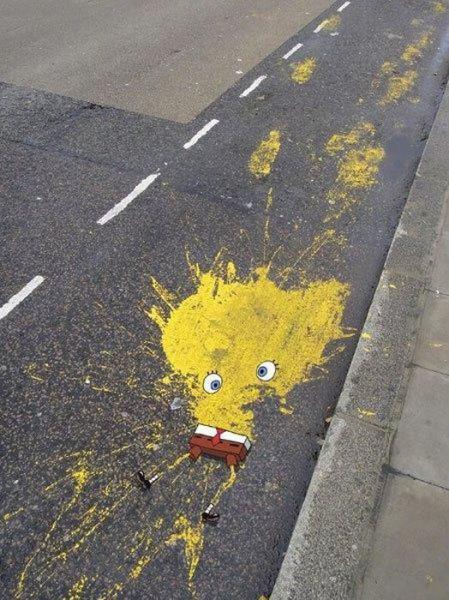 Sponge Bob splatter