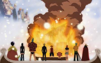 Topi Jerami One Piece Going Merry Saat Terakhir