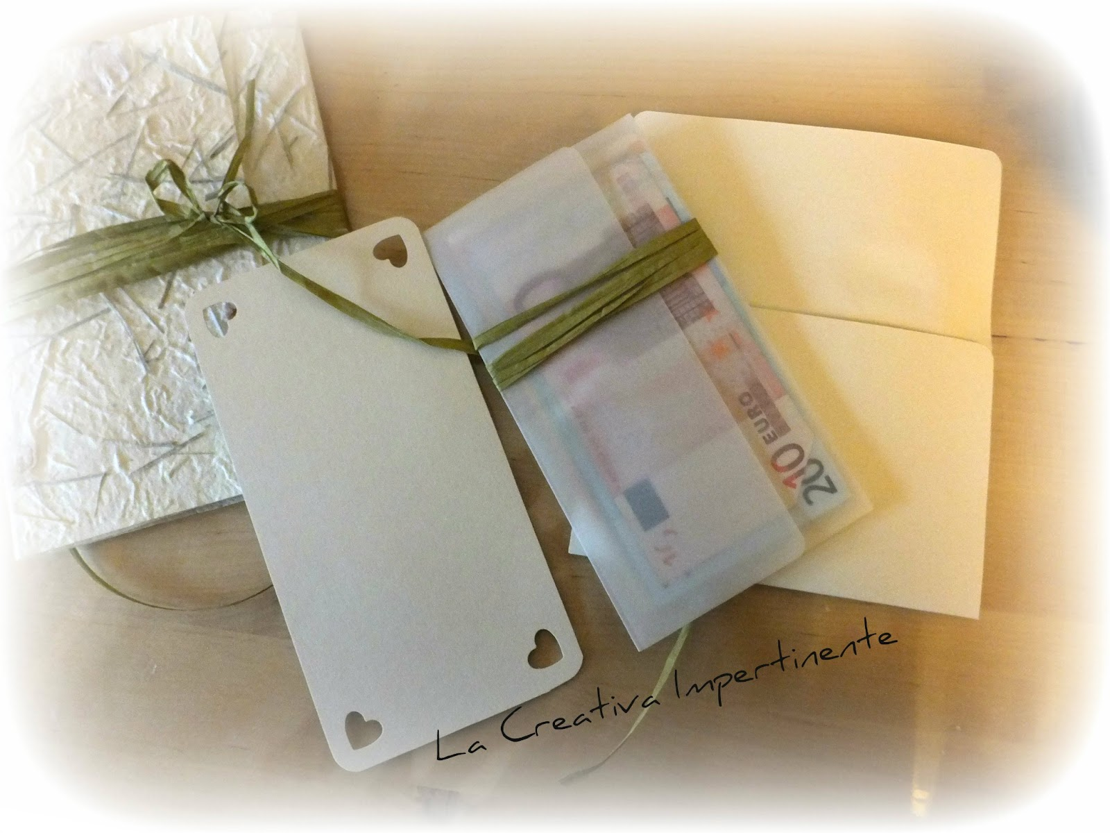 Estremamente La Creativa Impertinente: Scrapbooking Matrimonio: un biglietto  IE85