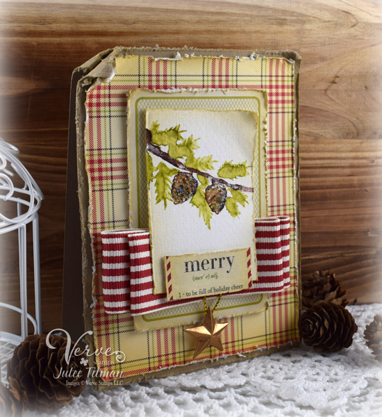 Viva la Merry by Julee Tilman | View more of Julee's creations at poeticartistry.blogspot.com | #vervestamps #cardmaking