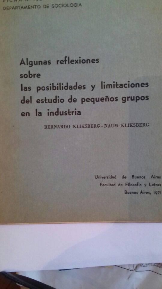 67 - Publicacion de la Universidad de Buenos Aires. 1971.