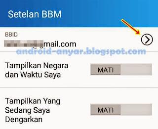Cara Sign-out dari BBM Android