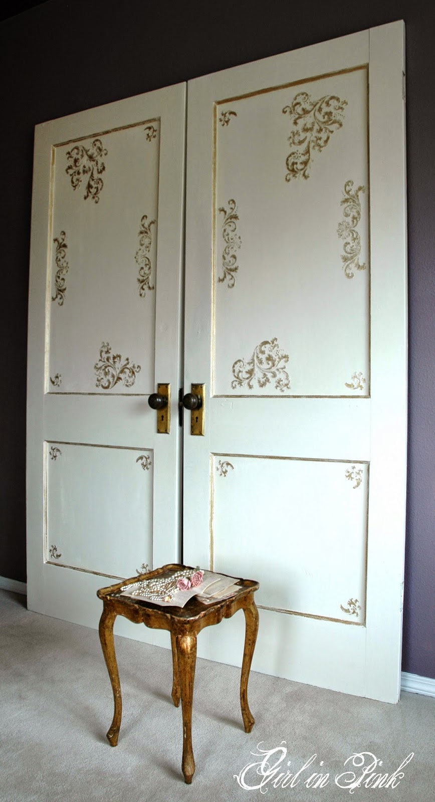 Downton Abbey Drawing Room Doors How to Create Your Own! & Girl in Pink: Downton Abbey Drawing Room Doors: How to Create Your Own!