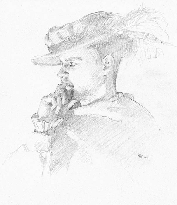 Pensive Sketch by Richard Lance Russell