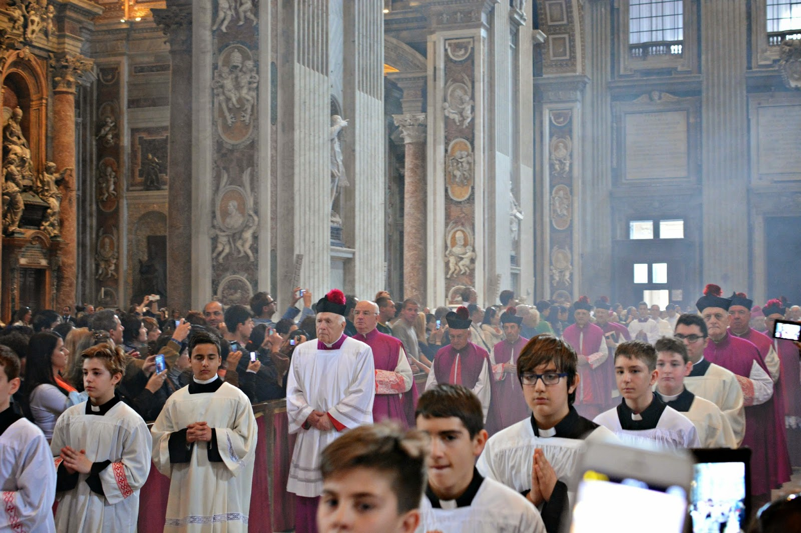 mass at st peter's basilica vatican city