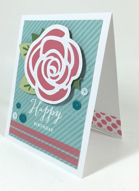 Cricut Rose Birthday card