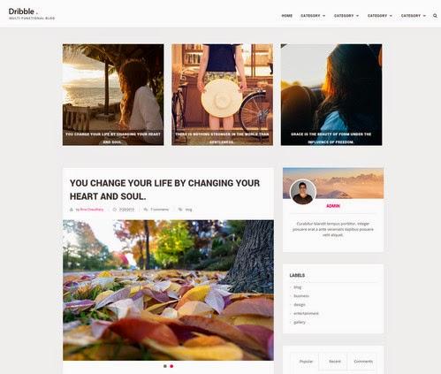 Template Blog Drible Clean & Responsive