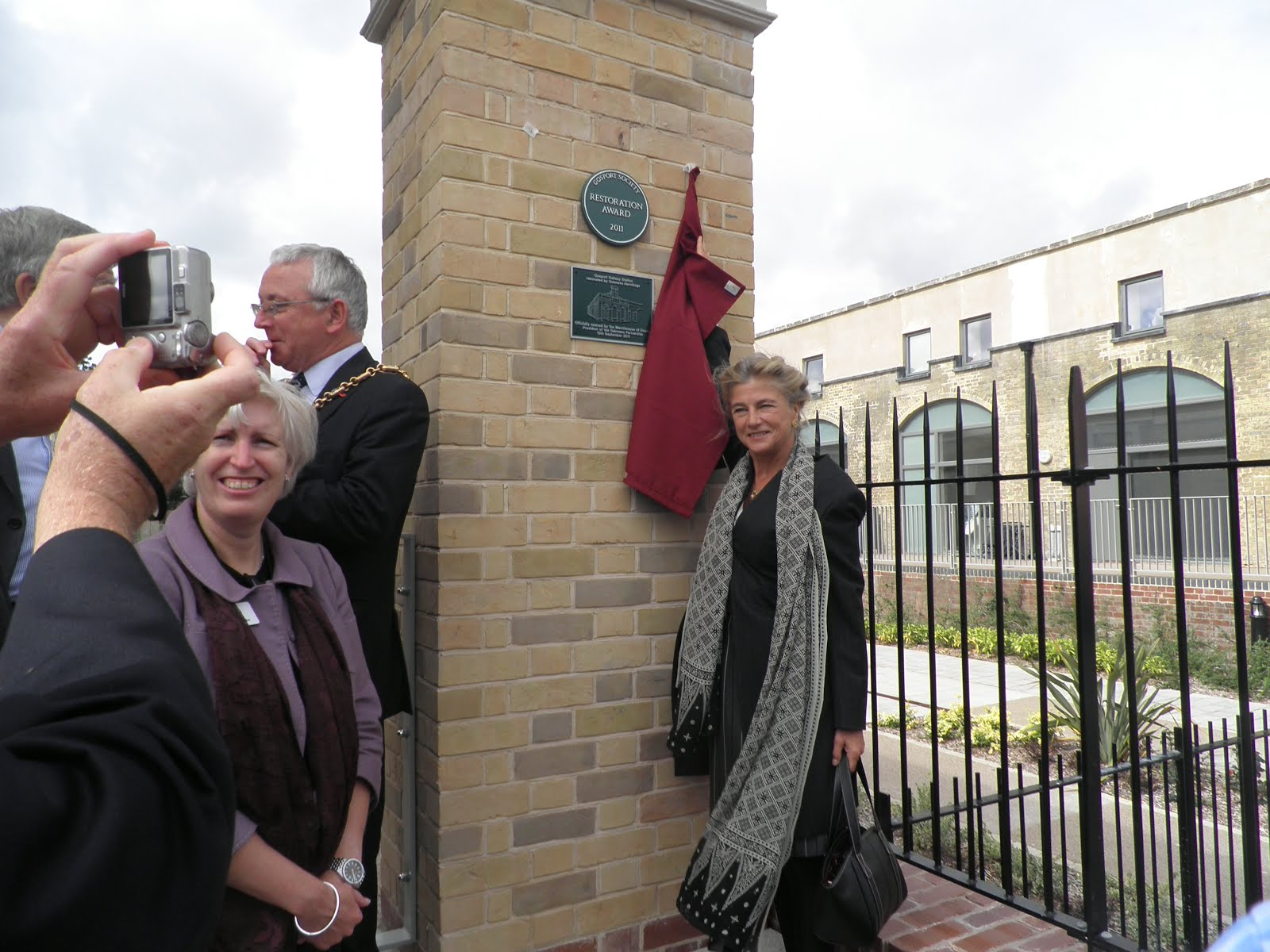 Princess Antonia officially opens the rebuilt station