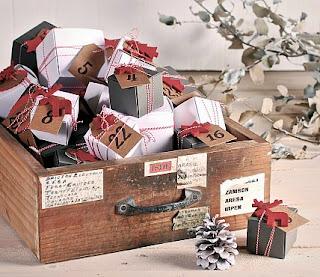 calendarios de Adviento, calendario de Adviento, calendario de Adviento casero, calendario de Adviento DIY, selfpackaging, self packaging, selfpacking