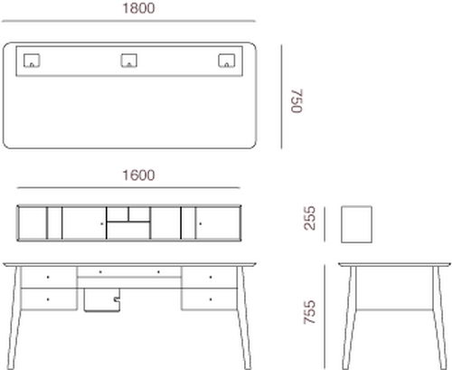 Pontus Desk Design Dimensions