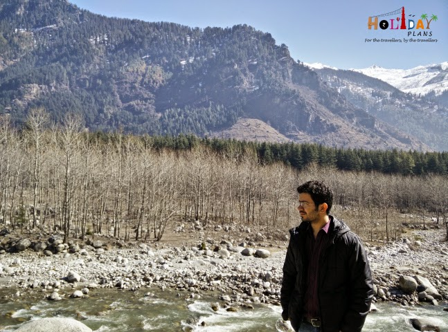 Geetansh getting captured in beautiful scenery