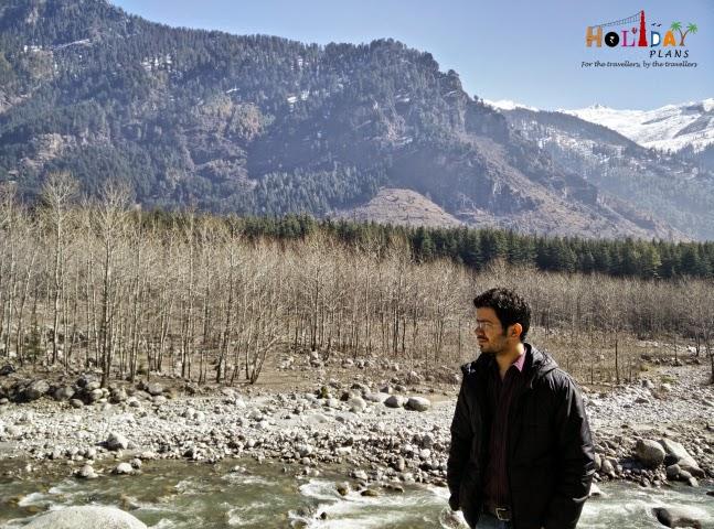 Geetansh getting captured in beautiful scenery