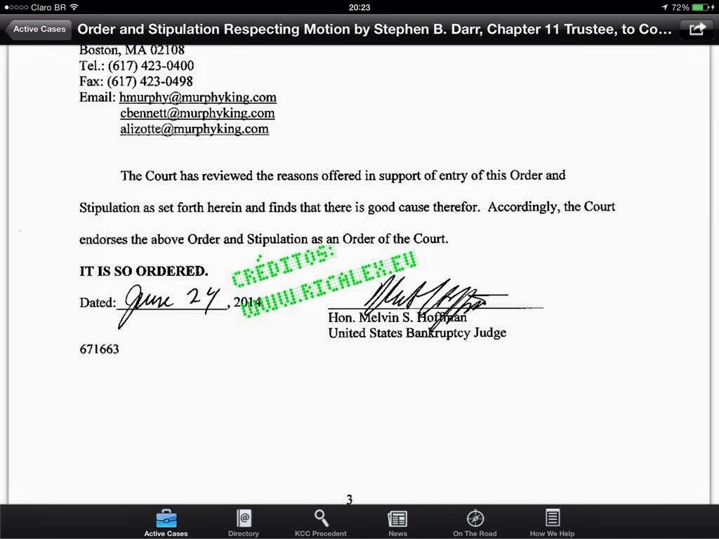 Caso TelexFREE Alvarez & Marsal foi ordenada pelo Juiz a apresentar a documentação até 30 de Junho