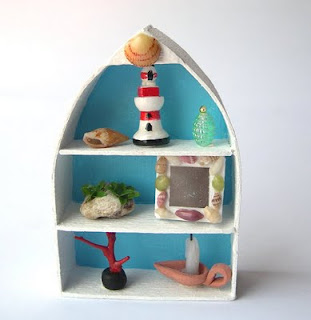 Nautical furniture in miniature for dollhouse
