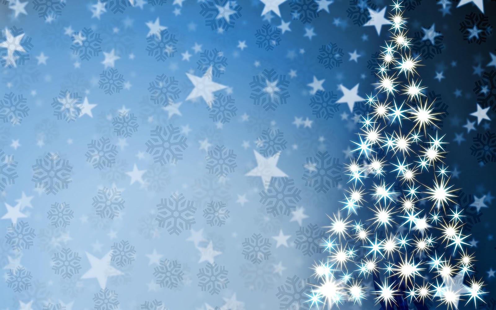 Kerstboom gemaakt van sterretjes  Bureaublad Achtergronden