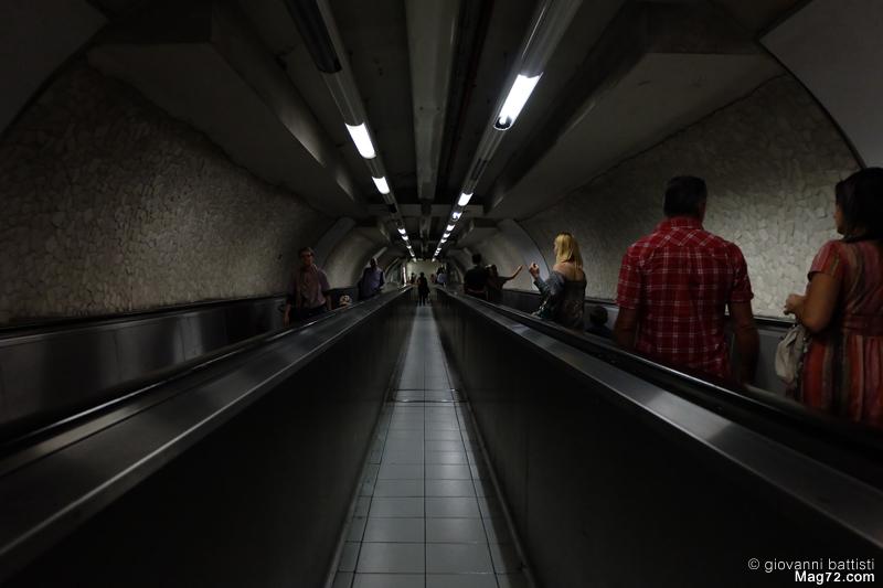 Fotografia della metropolitana di Roma