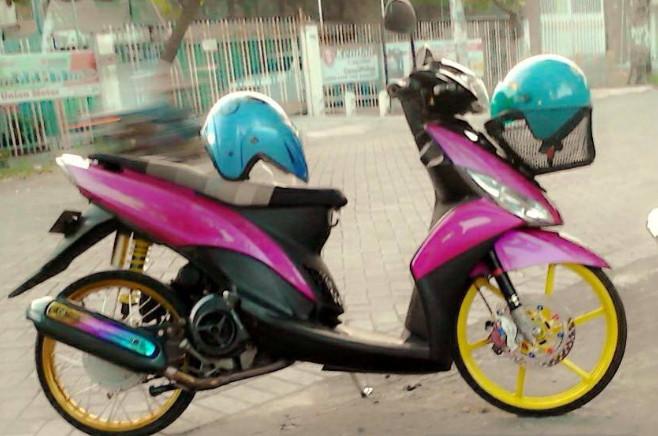 Modifikasi Motor Yamaha Mio Modif Kontes Kumpulan Gambar