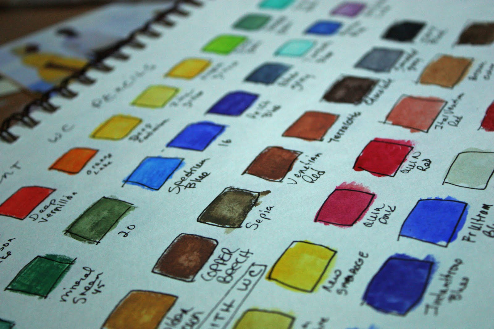 Watercolor Color Names The Colors And Their Names