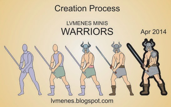 LVMENES paper miniatures creation process