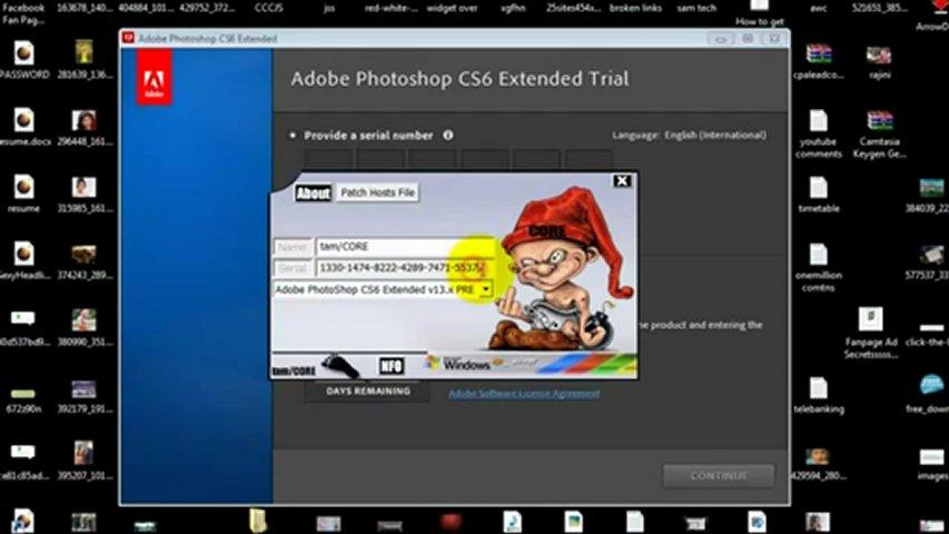 Скачать рабочий ключ для Adobe Photoshop CS6.