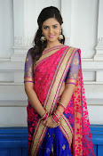 Sri Mukhi Gorgeous Half saree Photos-thumbnail-7