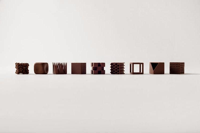 Chocolatexture de Nendo bombones de diseño