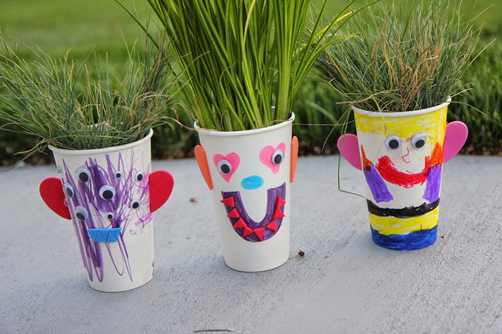Decorating Plastic Tumblers Toddler Approved Make Your Own Grass Hair Salon From The Garden