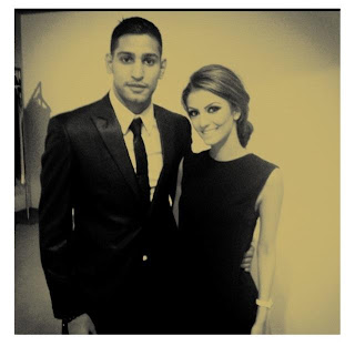 Boxer Amir Khan and Faryal Makhdoom random photo
