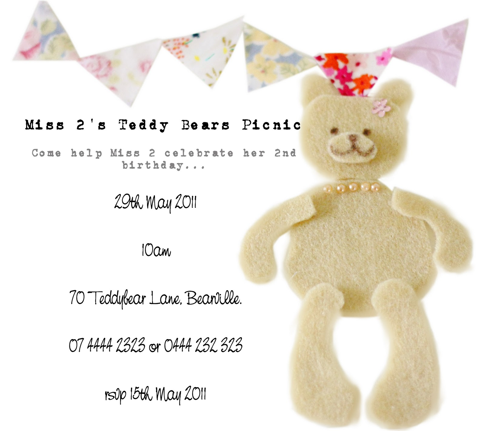 Teddy Bear Picnic Invitations for adorable invitation design