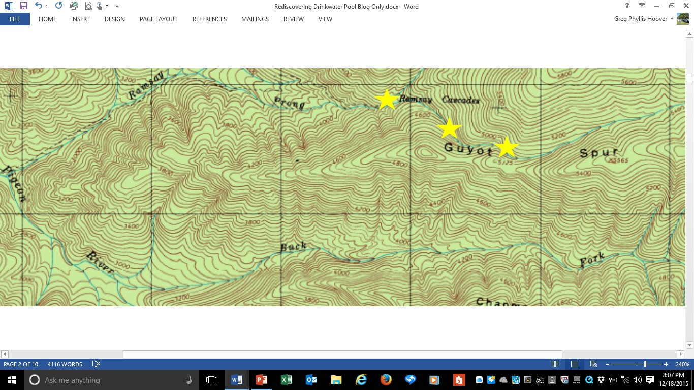 notice also that about a mile south of ramsey prong is another river that runs parallel to it buck fork buck fork and ramsey prong flow down into the