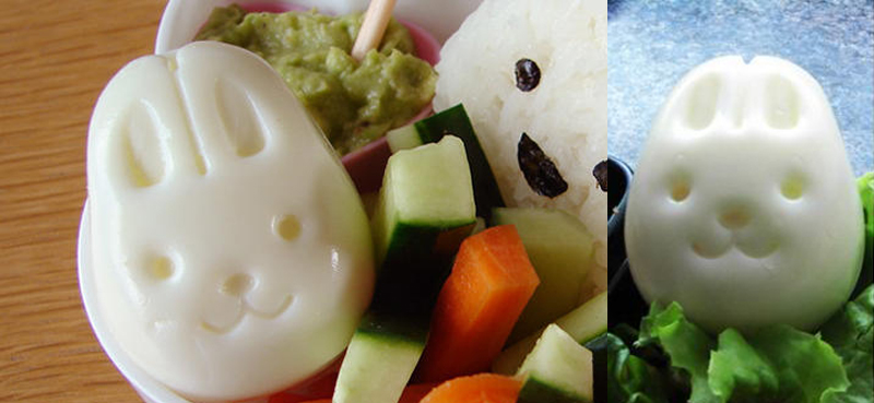 Divertidos moldes para huevos con formas de animales