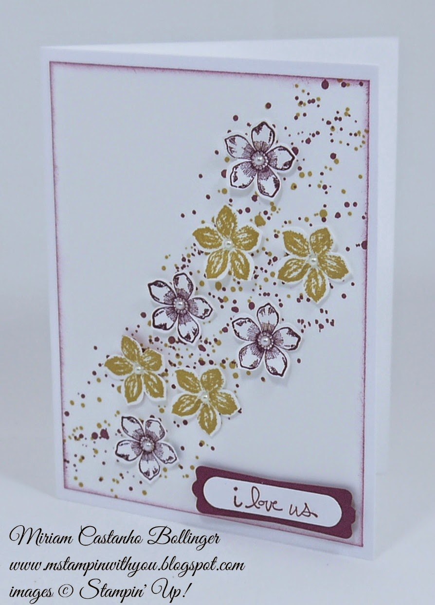 Miriam Castanho Bollinger, #mstampinwithyou, stampin up, demonstrator, dsc123, petite petals, gorgeous grunge stamp set, good greetings stamp set, petite petals punch, word window, modern label punch, su